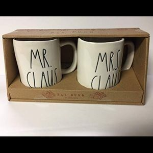 Rae Dunn Mr & Mrs Claus Mug Set